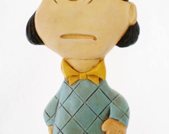 ON SALE Vintage, Violet, Peanuts Character, Chalkware or Plaster, Wall Hanging