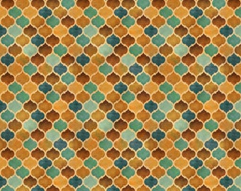 Geometric Pattern Fabric by Quilting Treasures Arabesque yardage