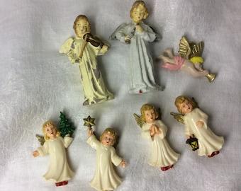 German Hard Plastic Angels with Italian Angels Lot