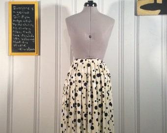 1980's Polka Dot Skirt