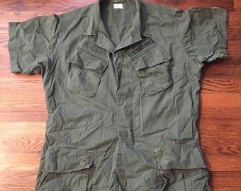 Vietnam Era Slant Pocket U.S. Air Force BDU Shirt