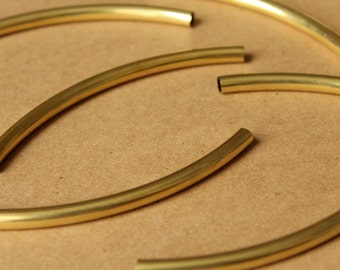 10 pc. Raw Brass Tube Beads, 100mm long by 6mm wide | FI-343