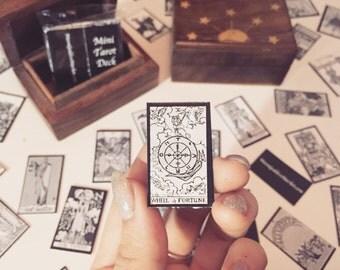 Miniature Tarot Deck & Wooden Box | Divination | Kit