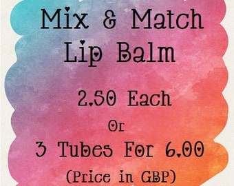 Mix- and- Match- Lip Balm- 3 tubes for 6GBP- Special Offer- Cocktail- Sweet- Gin and Tonic- Whisky- Margarita- Lipbalm- Medusa Holistics