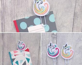 Unicorn planner clip, unicorn book mark, unicorn gift, cute planner, birthday gift, planner