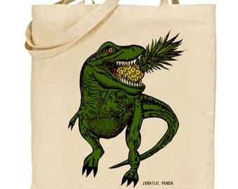 Dinosaur t-rex tote bag jurassic world bag jurassic park bag
