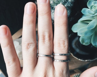 Hammered - Sterling Silver Stacking Ring