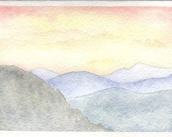 Appalachian Sunset Card