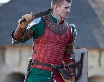 "DISCOUNT! Leather Brigandine ""Bird of Prey""; Leather Armor; Body Armour; Custom Armor"