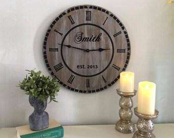 """24"""" Custom Farmhouse Style Clock"""