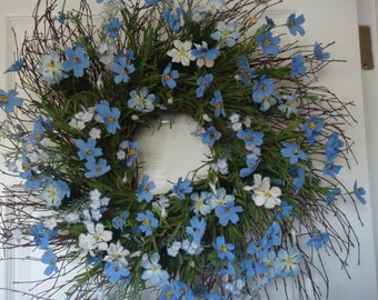 Spring wreath, front door wreath, Mothers Day gift, spring decoration, summer wreath, spring door wreath, Mothers Day wreath, outdoor wreath