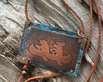Bear and Moose Copper Necklace