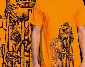 ORANGE, SMALL Sloths Furnace T-Shirt