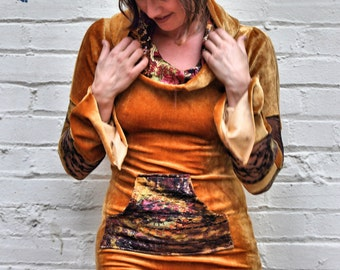 Citrine Dream Hoodie Dress