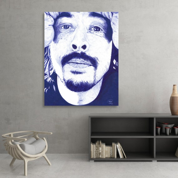 Dave Grohl of Foo Fighters and Nirvana Ballpoint Pen SIGNED Fine Art Giclée Print