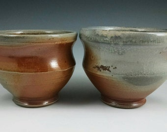 Two wood-fired mugs. Free shipping to the lower 48 States. #1.