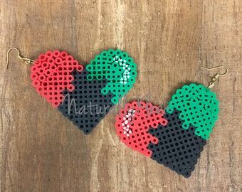 LOVE *Pride* Pixel Earrings - Natural Hair Earrings - Pixel Art