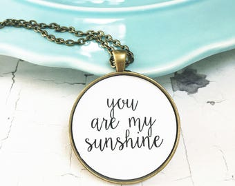 Daughter Grad Gift from Mom Dad You Are My Sunshine Jewelry Mother Daughter Necklace Graduation Gifts for Her