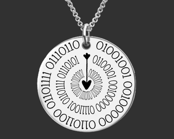 Geek Jewelry | Geek Gift | Daughter Gift | Teen Gifts | Binary Code Jewelry | I Love You More | Personalized Gifts | Korena Loves