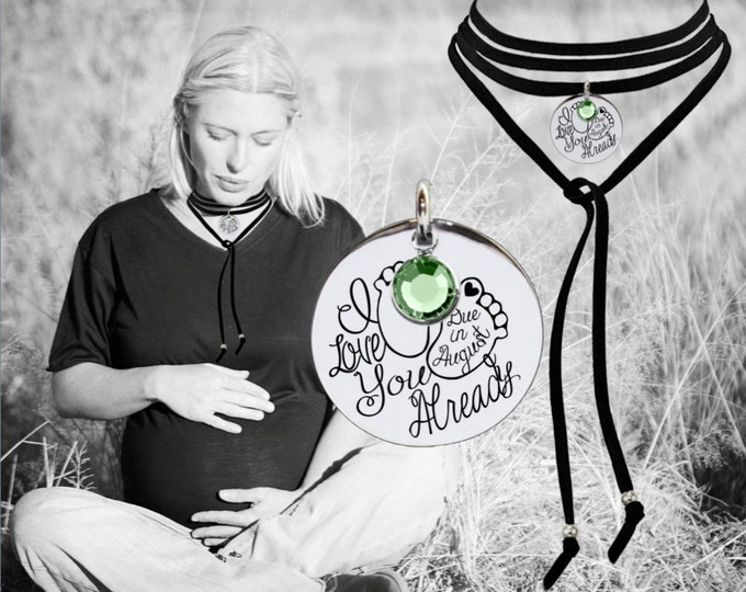 Leather Choker | Baby Shower Gifts | Maternity Gift | New Mom Gifts | Pregnancy Gifts | Due Date | Inspirational | Quotes | Korena Loves