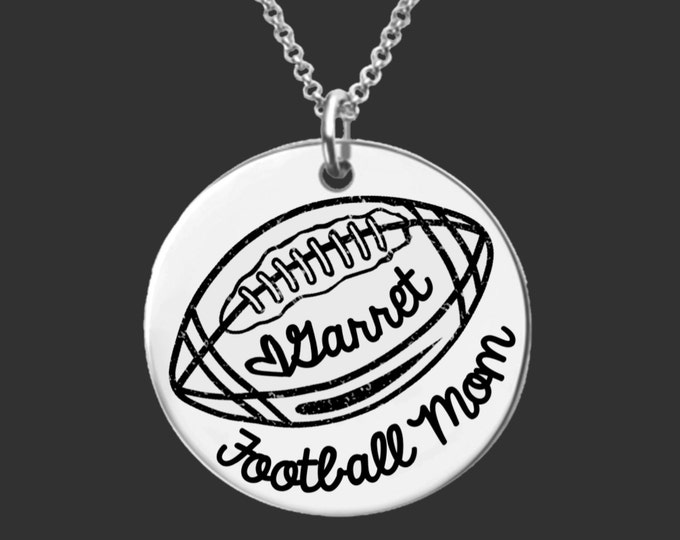 Football Mom Necklace | Team Mom | Mother's Day | Gifts for Mom | Gifts for Mom | Personalized Gifts | Korena Loves