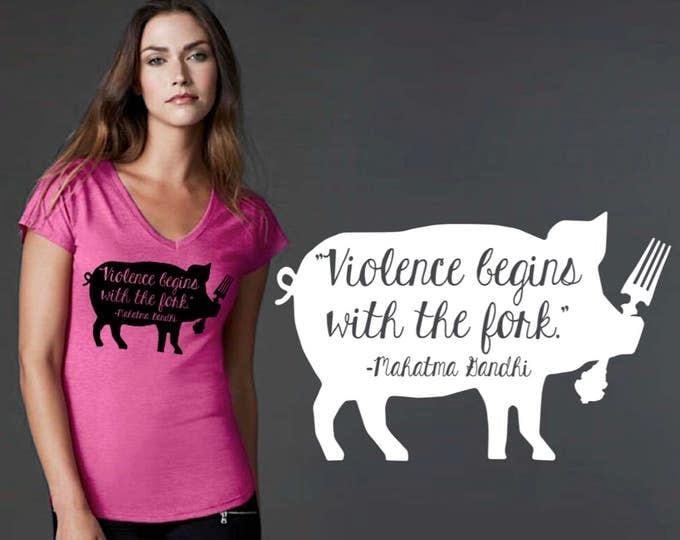 Vegan | Vegan Gift | Vegan Shirt | Vegan T-shirt | Custom T-shirts | Buddha Quotes | Quote Shirt | Inspirational T-shirt | Korena Loves