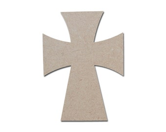 """Unfinished Wood Cross Wooden Craft Crosses Paintable MDF Cut Out part MC11-125    11"""" inch"""