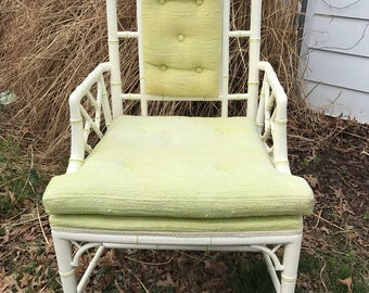 Vintage bamboo side chair