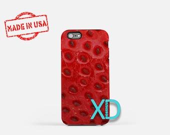 Strawberry iPhone Case, Fruit iPhone Case, Strawberry iPhone 8 Case, iPhone 6s Case, iPhone 7 Case, Phone Case, iPhone X Case, SE Case