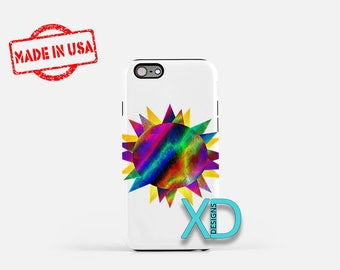 Tie Dye Sun iPhone Case, Abstract iPhone Case, Tie Dye iPhone 8 Case, iPhone 6s Case, iPhone 7 Case, Phone Case, iPhone X Case, SE Case