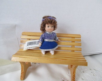 "Chanukah Doll Dressed in Silver and Blue 3"" Cameo Kids New Old Store Stock Hanukkah"