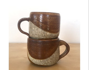 Pair of Handmade Venezuelan Stoneware Mugs
