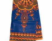 Royal Blue Dashiki fabric/ Ankara Fabric/ African fabric/ African cloth/ African Maxi Skirt/ Star dashiki/ Small Design 6 yards  DS11B