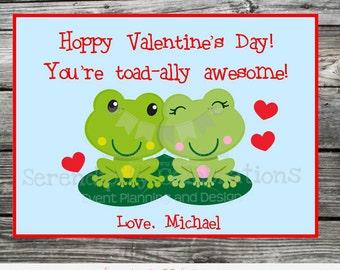 Printable Valentine Cards, Frog Valentine's Day Cards, Classroom Cards, Valentine's Day,  Kids Valentine Cards, DIY Valentine's Cards