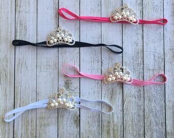 LIGHT PINK baby Crown Headband