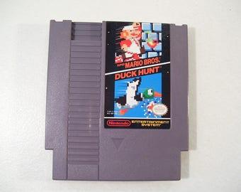 VIntage Nintendo NES Super Mario Bros. Duck Hunt Video Game Cartridge 1985