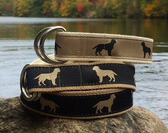 Retriever Belt for YOUNGER Boys / Dog Belt / Golden Retriever Belt / Labrador Retriever Belt / D ring Belt / Boys Pant Sizes 5/6 to 16/18