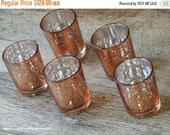 WINTER SALE 60 Rose Gold Mercury Glass Votive Holders -Copper - Candle Holders for Weddings - Glass Votive Candle Holders - Wedding Decorati