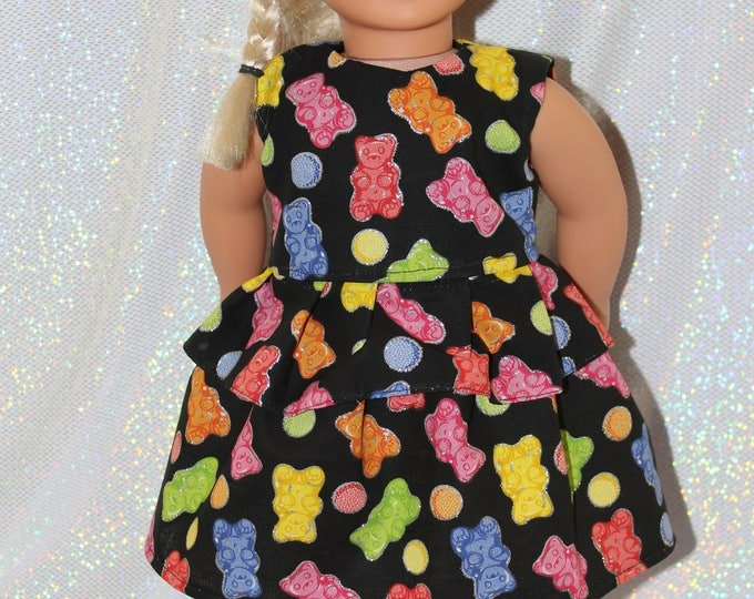 "18"" doll clothes  handmade to Fit like American Girl, Ready for Spring and Easter Gummy Bears Dress Free Shipping"