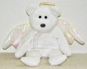 Halo the Angel Bear | Ty Beanie Babies Collection | Mint Condition | Hang Tag Missing