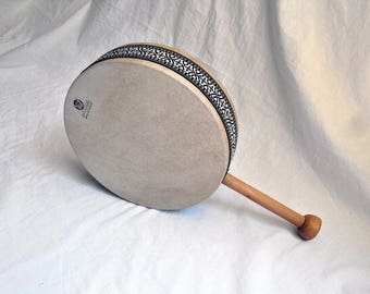 Ocean Drum Rattle Tamburo Oceano Shaker Framedrum Narrator Meditation Storyteller Tool 30cm by KleoDrums