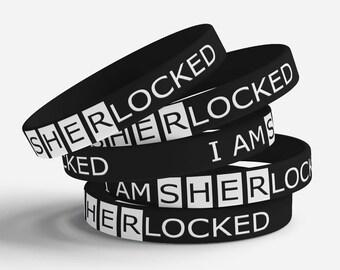 I am SHERlocked jelly bracelet