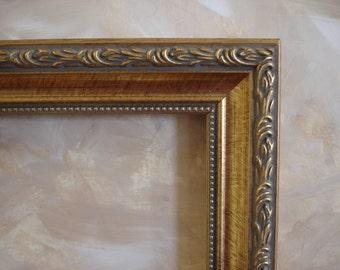 8 x 10  gold ornate wood ornate art picture frame