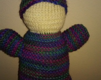 Hand Knit Gnome Doll