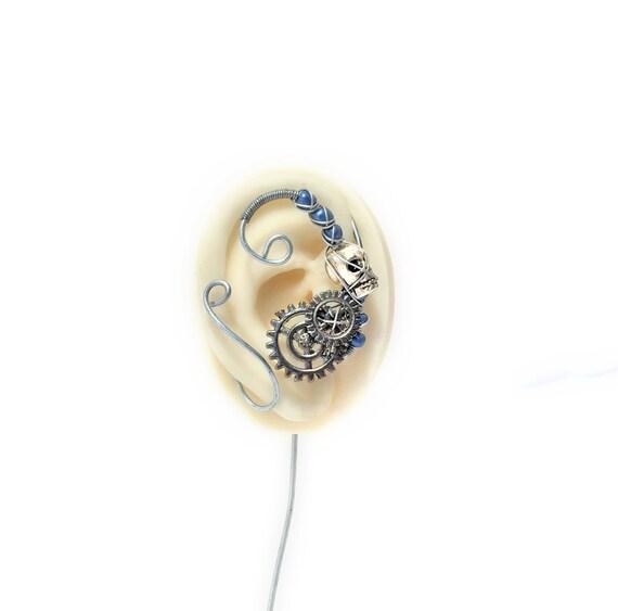 Steampunk Skull Ear Wrap - Right Ear
