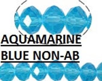 150pcs* 4mm Blue Crystals Beads 3x4mm AQUA TURQUOISE Rondelles Like #5040 4x3mm AQUAMARINE Swarovski Crystal A Grade Diy Jewelry Making Supp