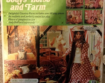 Vintage Jody's Horse and Farm Ideal 1975, Doll Included