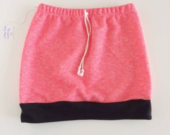 5T hot pink knit play skirt, summer skirt, toddler skirt