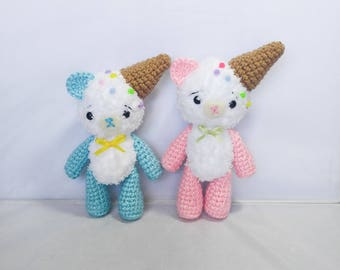 Amigurumi Bear Ice Cream Cone