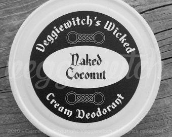 Naked - Veggiewitch Cream Deodorant - All Natural - Vegan & Organic